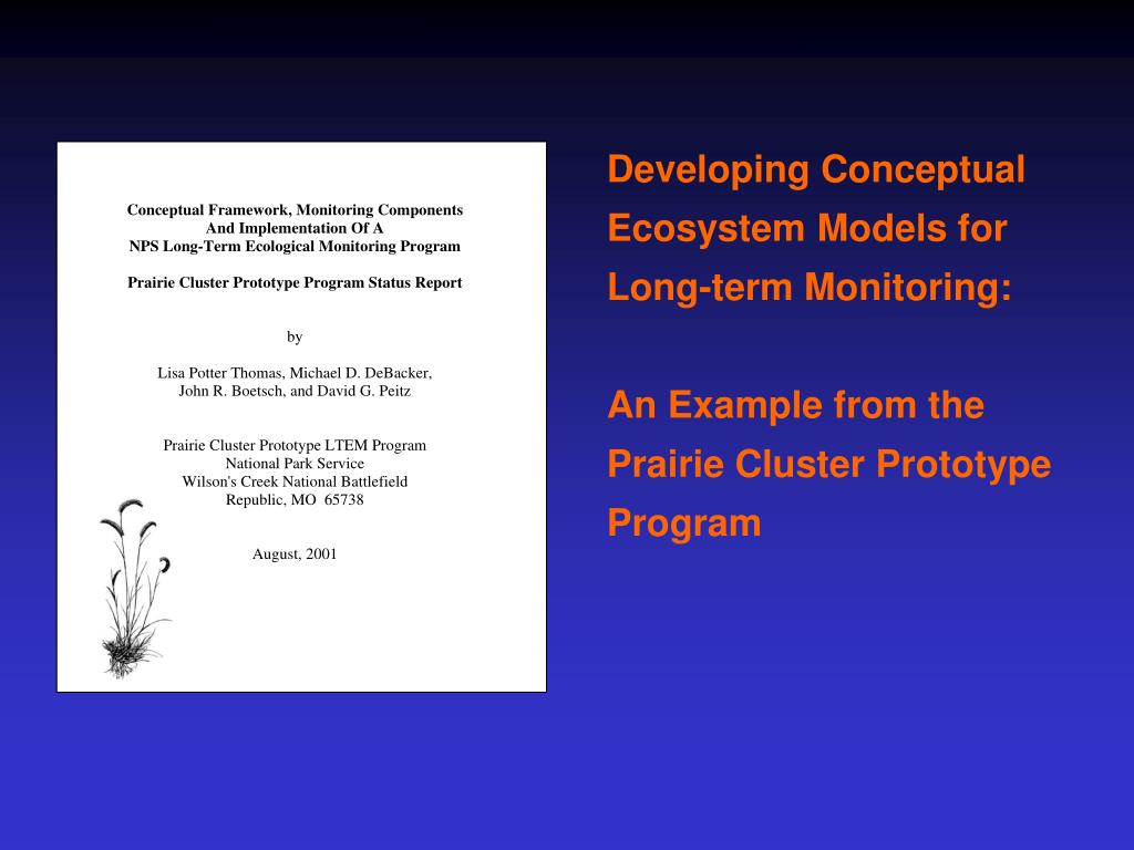 Developing Conceptual Ecosystem Models for Long-term Monitoring: