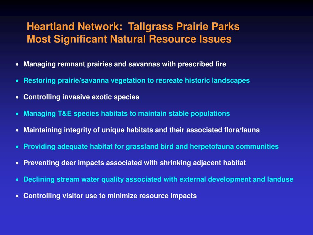 Heartland Network:  Tallgrass Prairie Parks