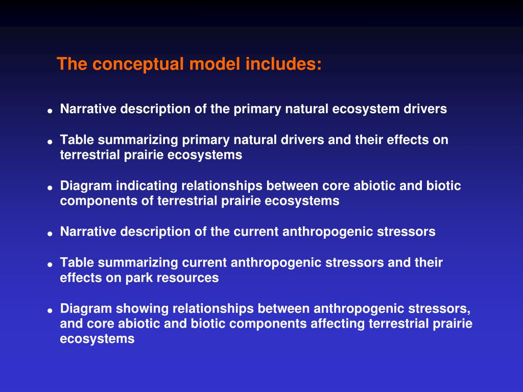 The conceptual model includes: