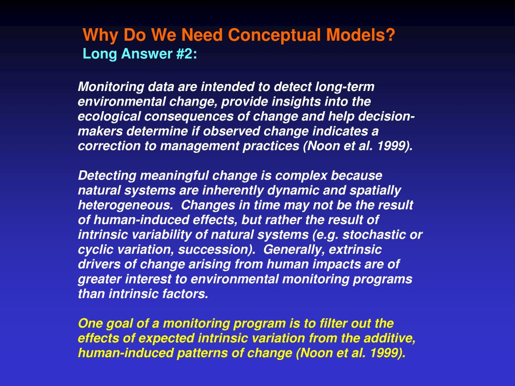 Why Do We Need Conceptual Models?
