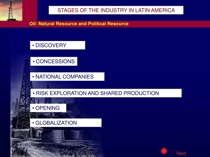 STAGES OF THE INDUSTRY IN LATIN AMERICA