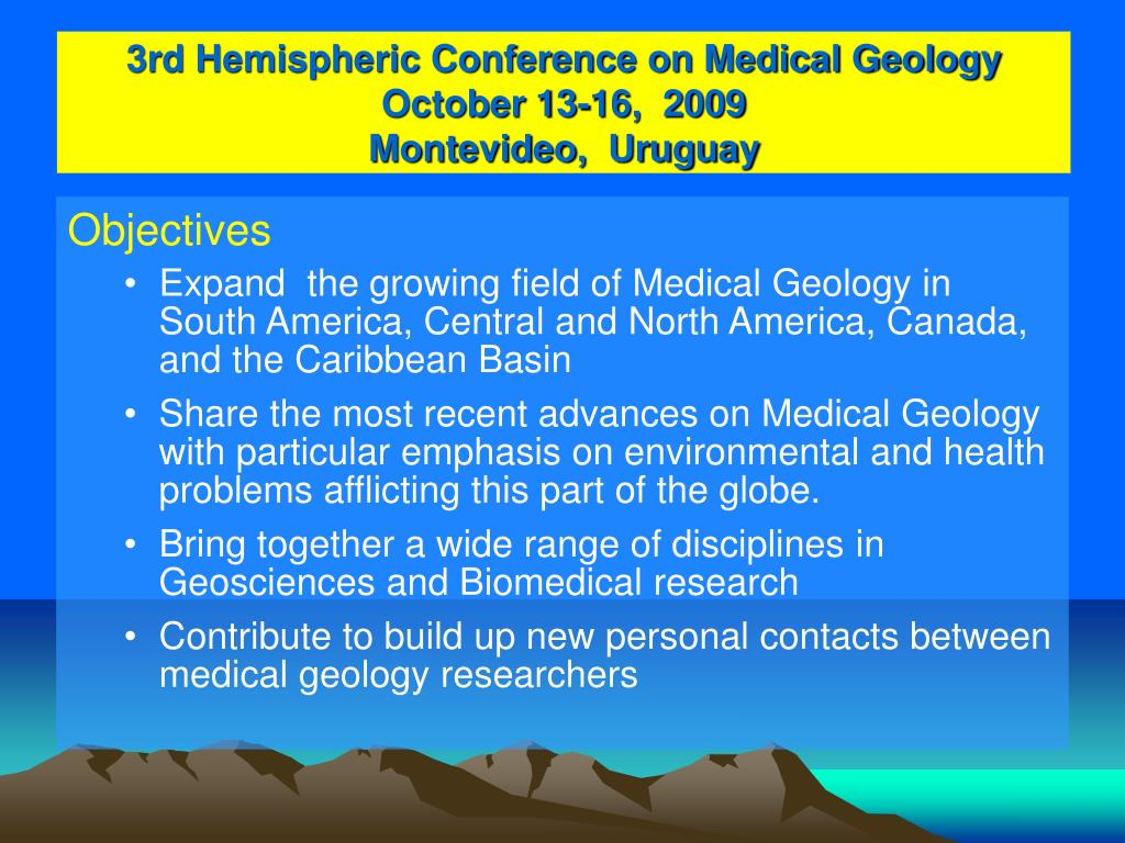 3rd Hemispheric Conference on Medical Geology