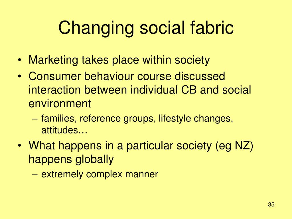 Changing social fabric