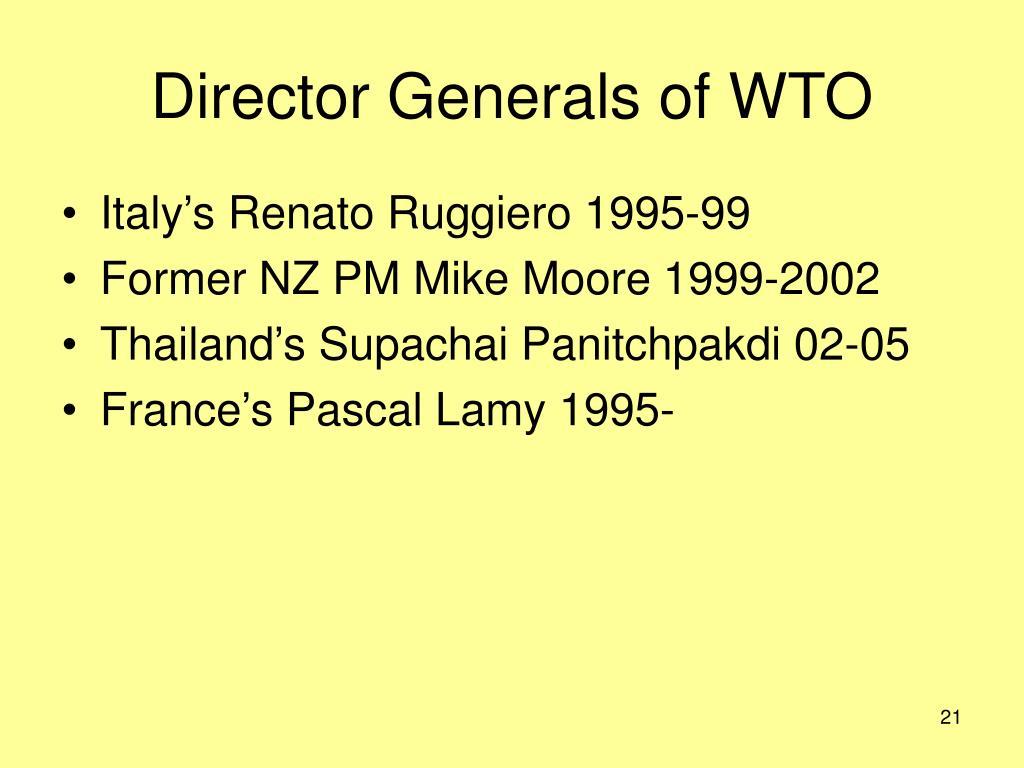 Director Generals of WTO