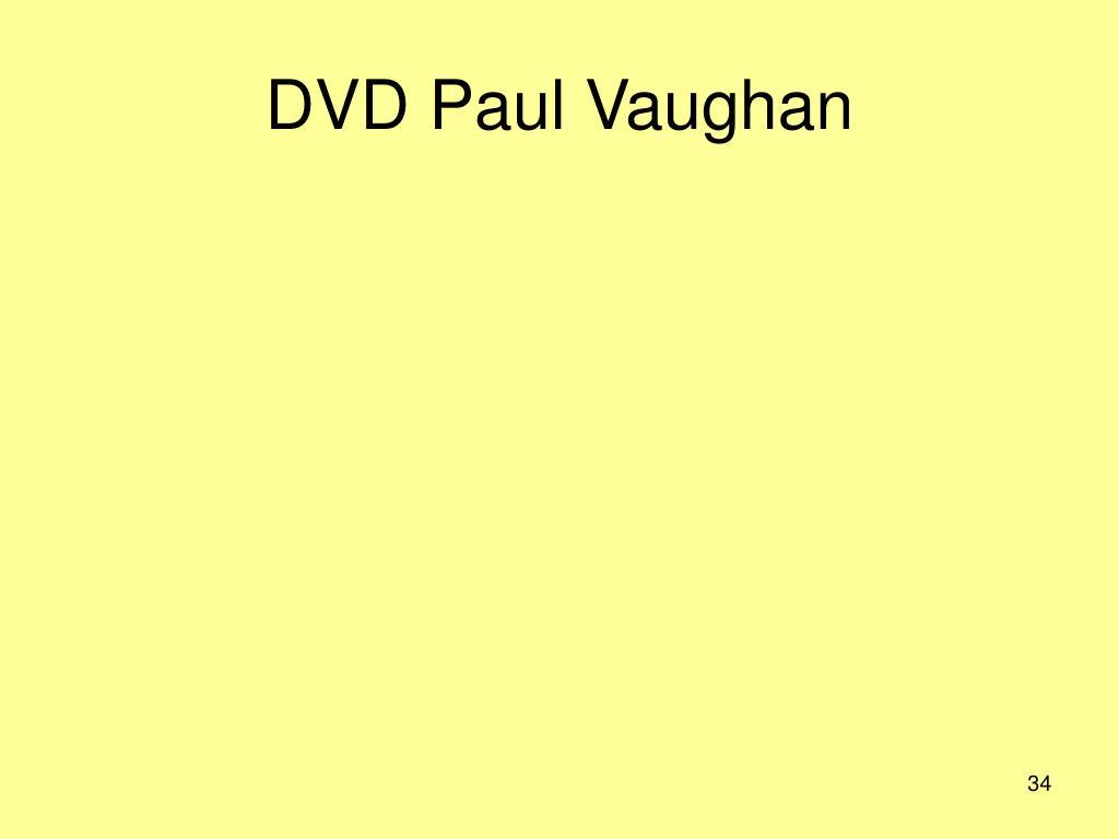 DVD Paul Vaughan