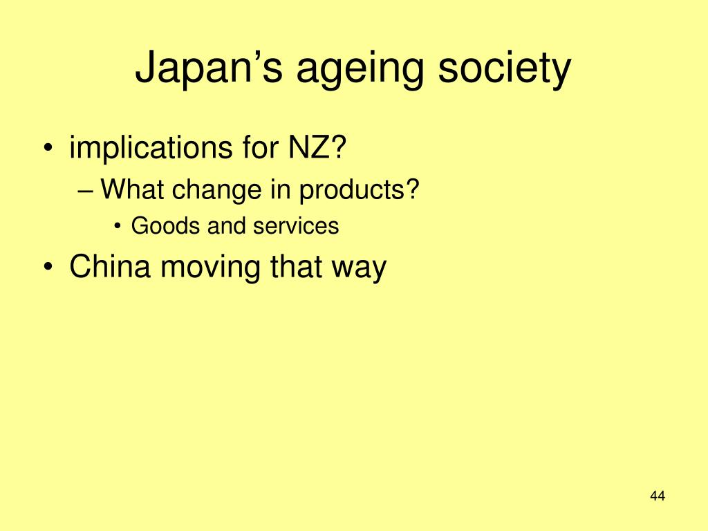 Japan's ageing society