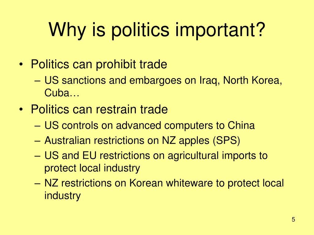 Why is politics important?