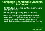campaign spending skyrockets in oregon