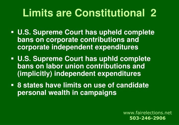 Limits are Constitutional  2