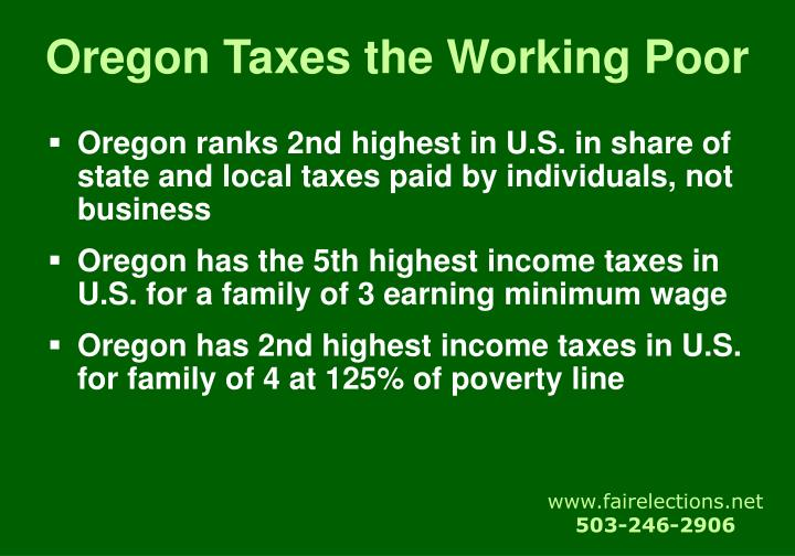 Oregon Taxes the Working Poor