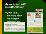 association with misinformation