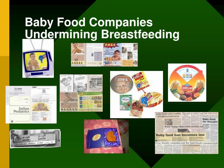 Baby Food Companies Undermining Breastfeeding