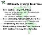 sim quality systems task force