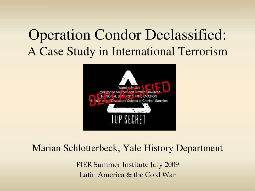 Operation Condor Declassified: