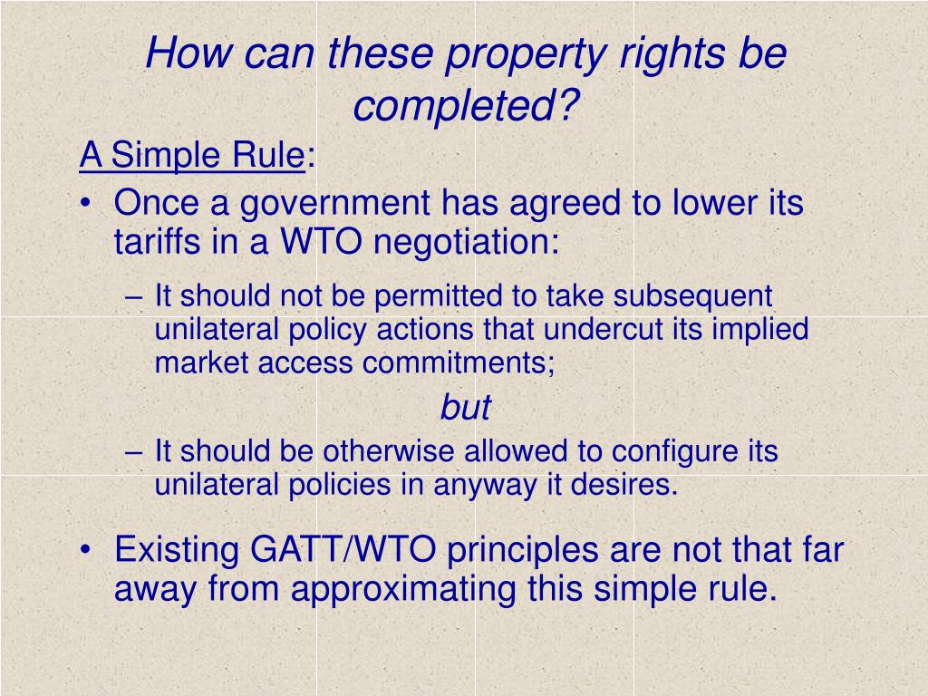 How can these property rights be completed?