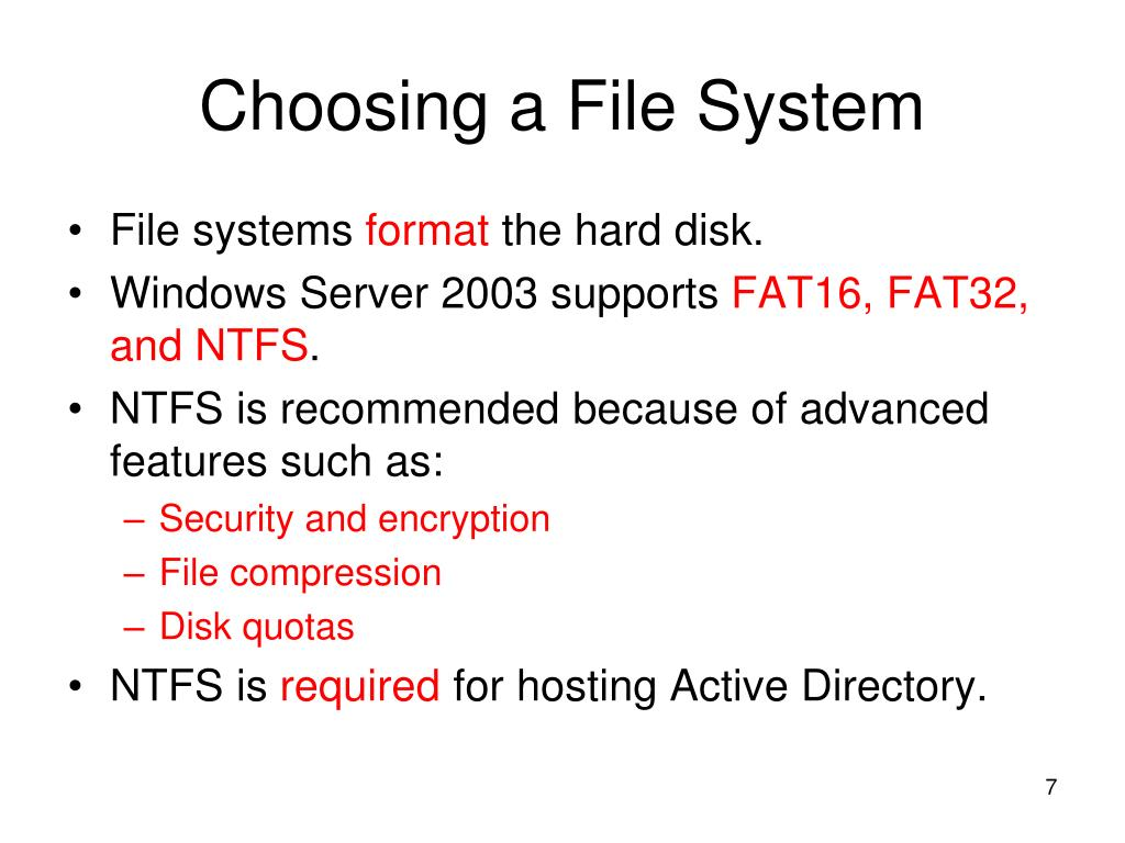 Choosing a File System