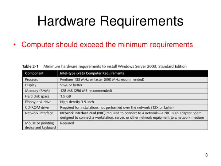 Hardware requirements l.jpg