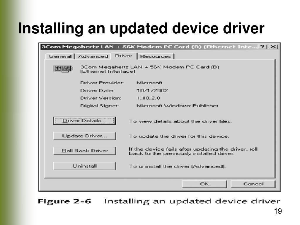 Installing an updated device driver
