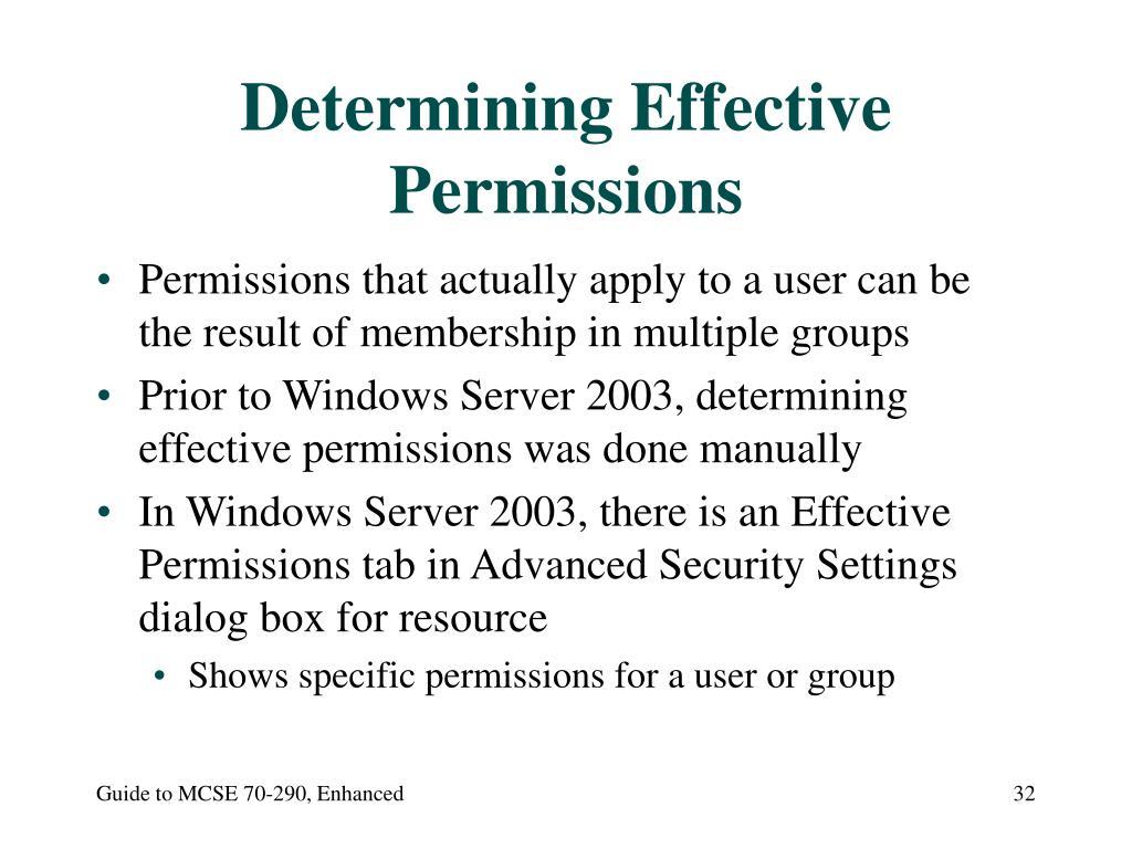 Determining Effective Permissions