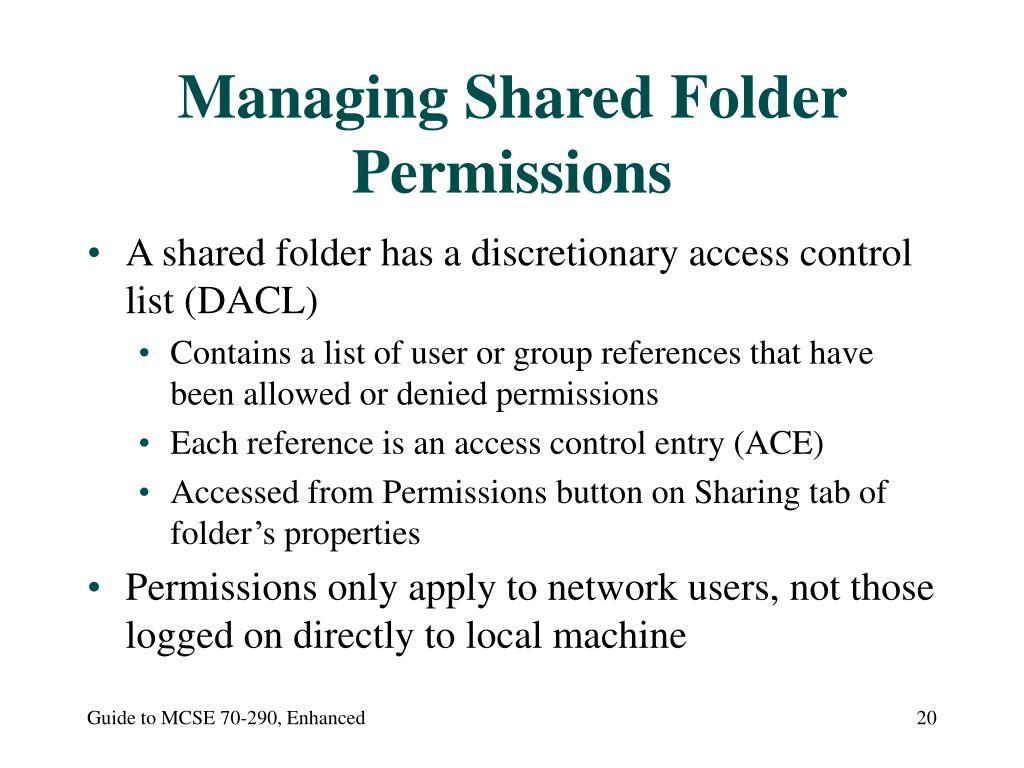 Managing Shared Folder Permissions
