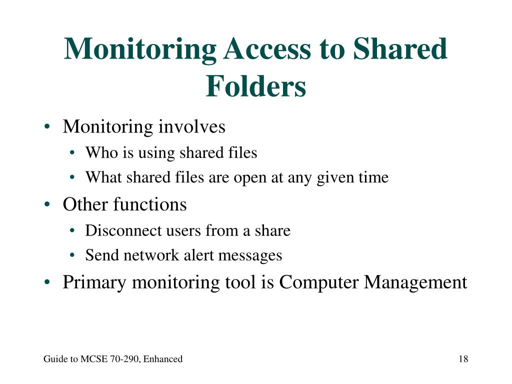 Monitoring Access to Shared Folders