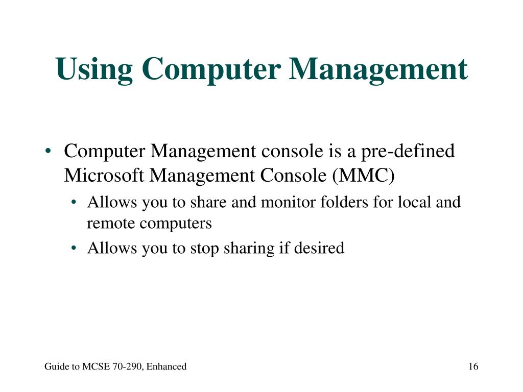 Using Computer Management
