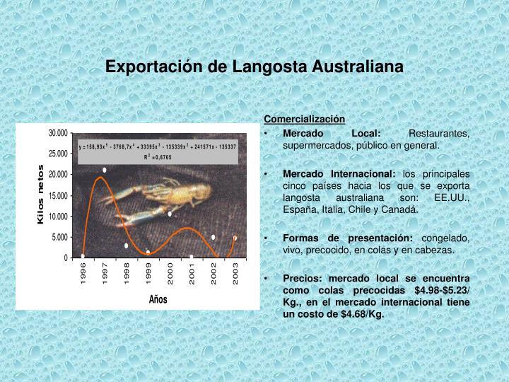 Exportación de Langosta Australiana