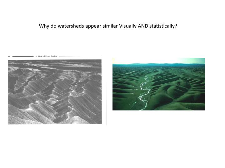 Why do watersheds appear similar Visually AND statistically?