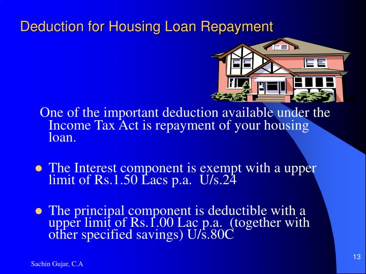 Deduction for Housing Loan Repayment