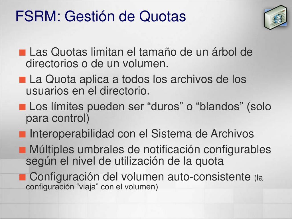 FSRM: Gestión de Quotas