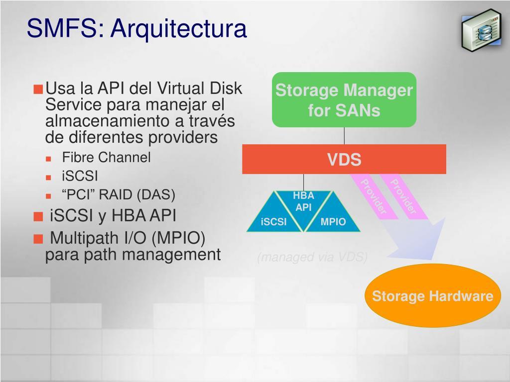 SMFS: Arquitectura