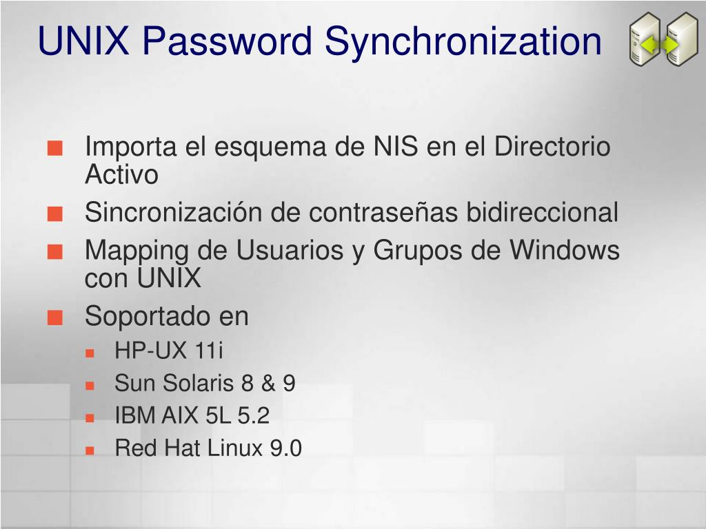 UNIX Password Synchronization