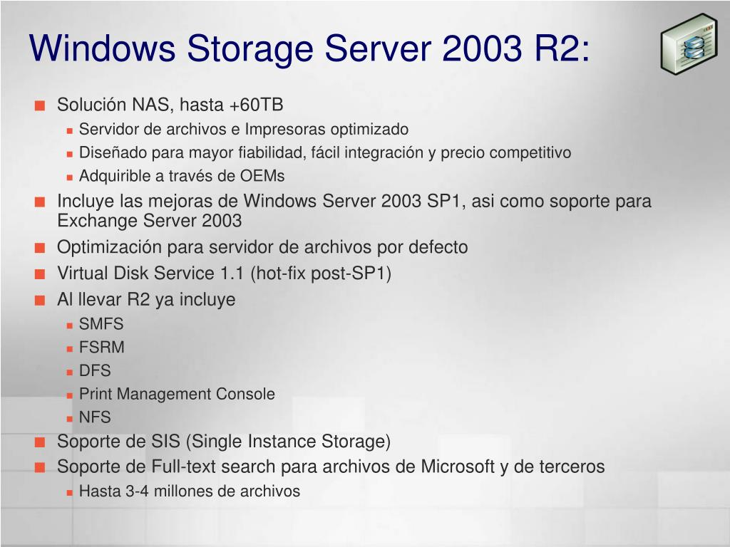 Windows Storage Server 2003 R2: