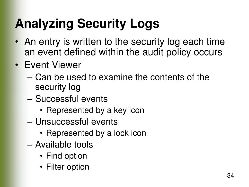 Analyzing Security Logs