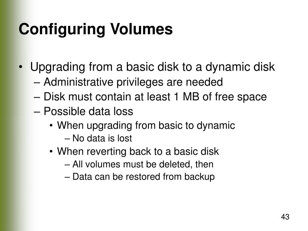Configuring Volumes