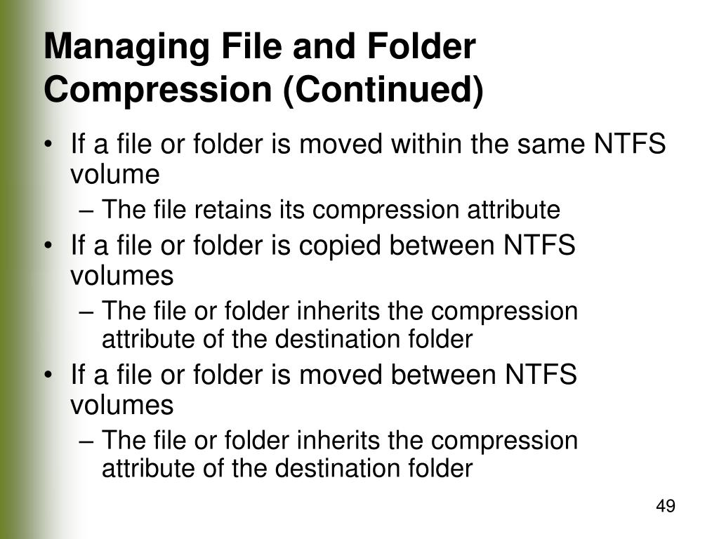Managing File and Folder Compression (Continued)