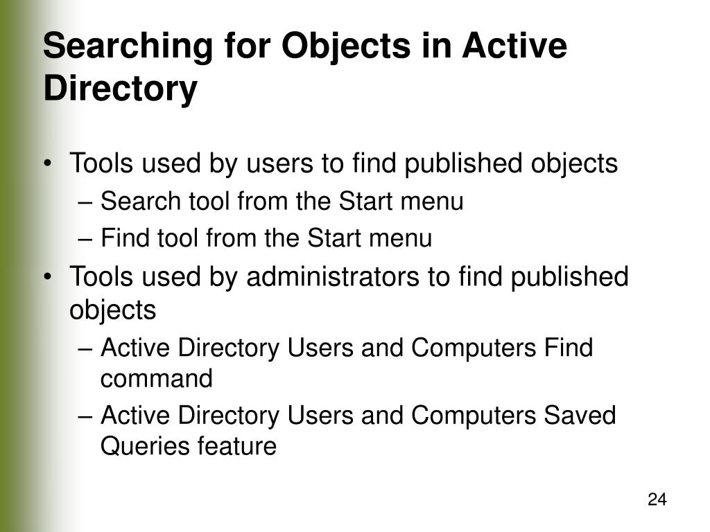 Searching for Objects in Active Directory