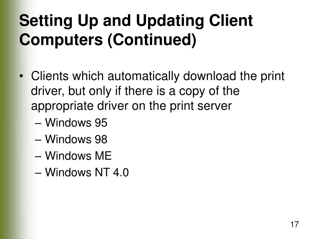 Setting Up and Updating Client Computers (Continued)