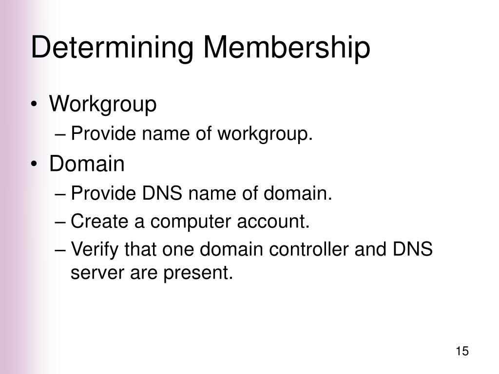 Determining Membership