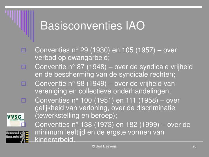 Basisconventies IAO