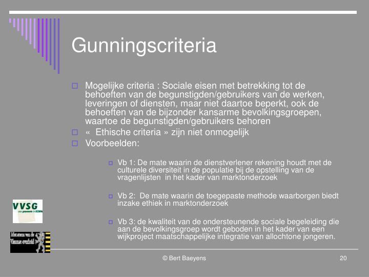 Gunningscriteria