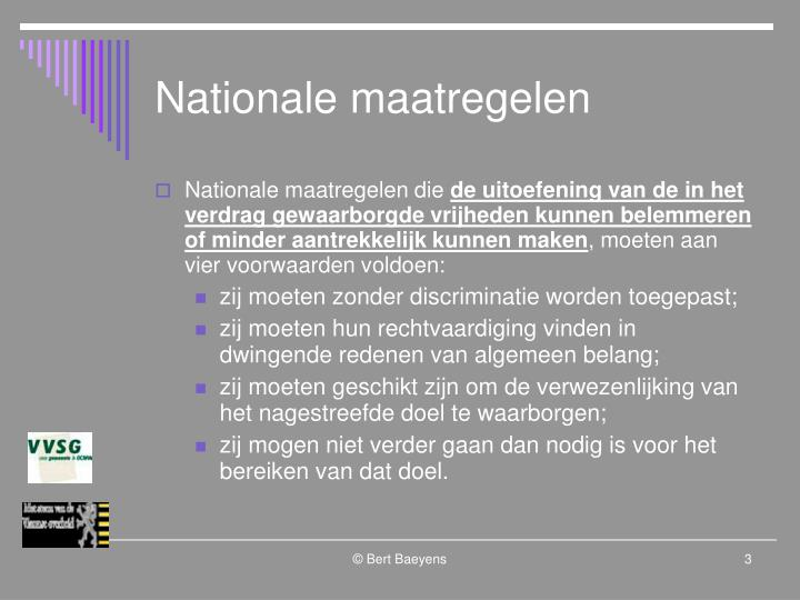 Nationale maatregelen