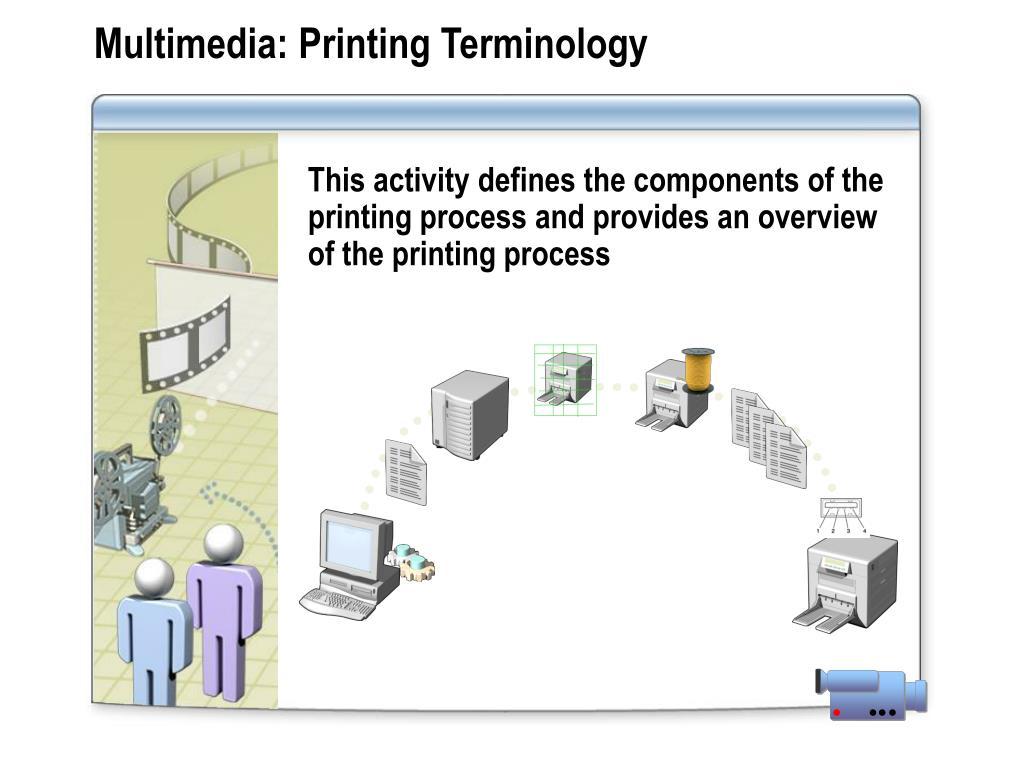 Multimedia: Printing Terminology