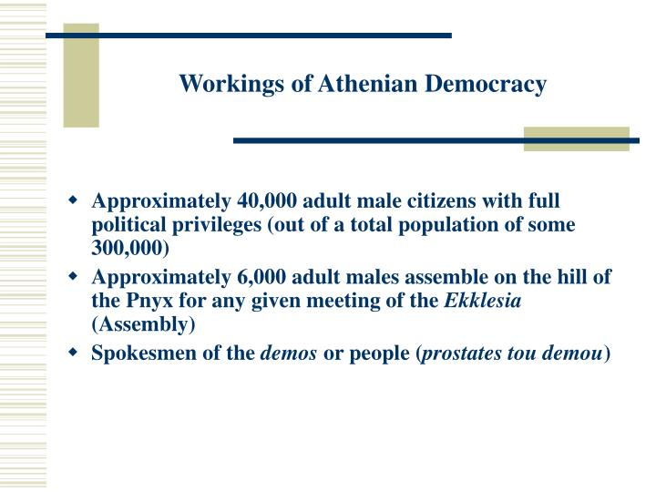 Workings of Athenian Democracy