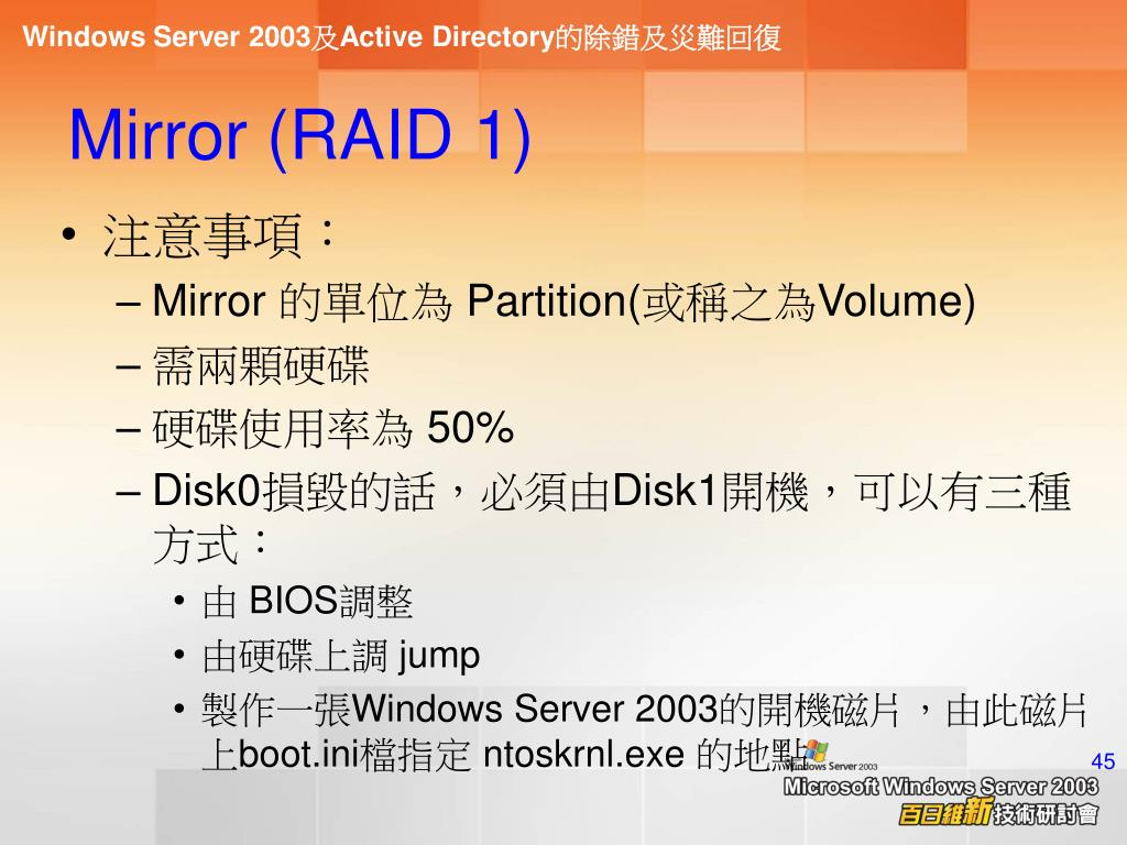 Mirror (RAID 1)