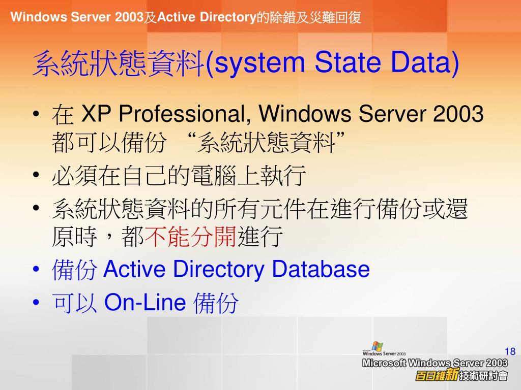系統狀態資料