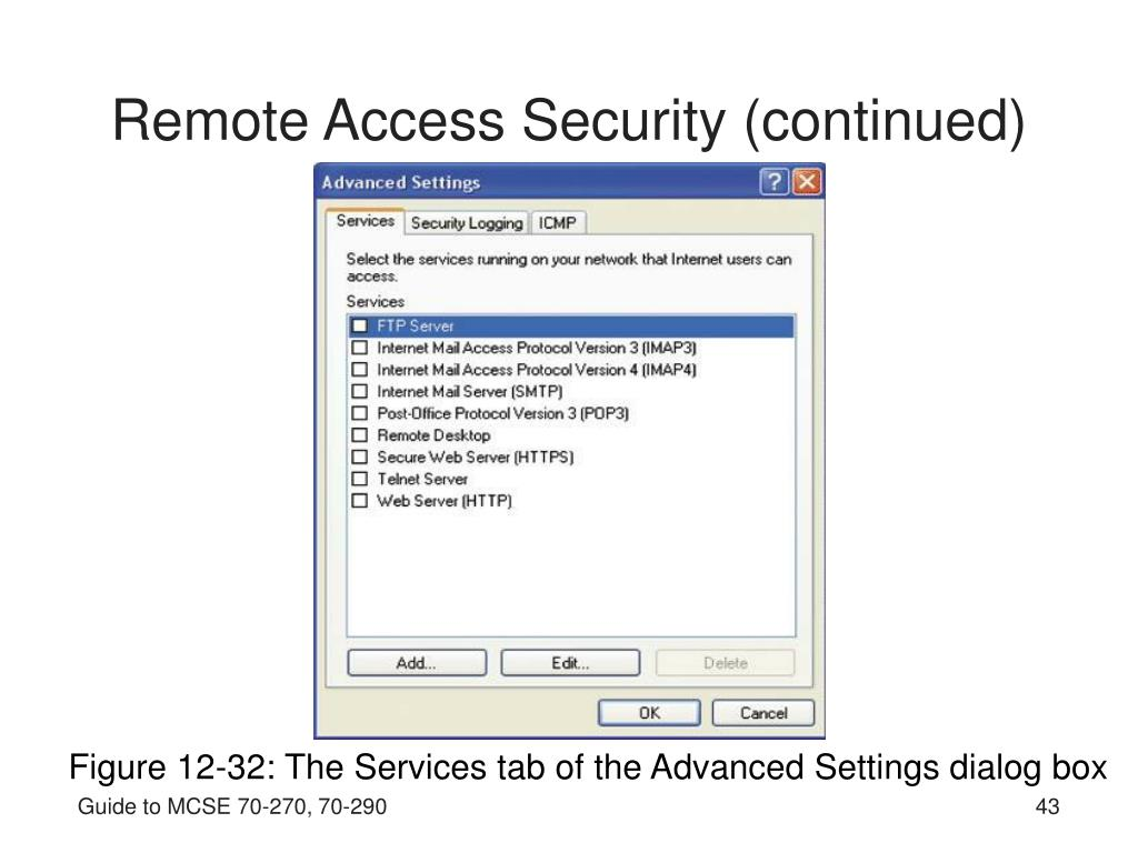 Remote Access Security (continued)