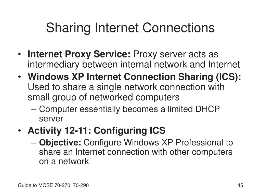 Sharing Internet Connections