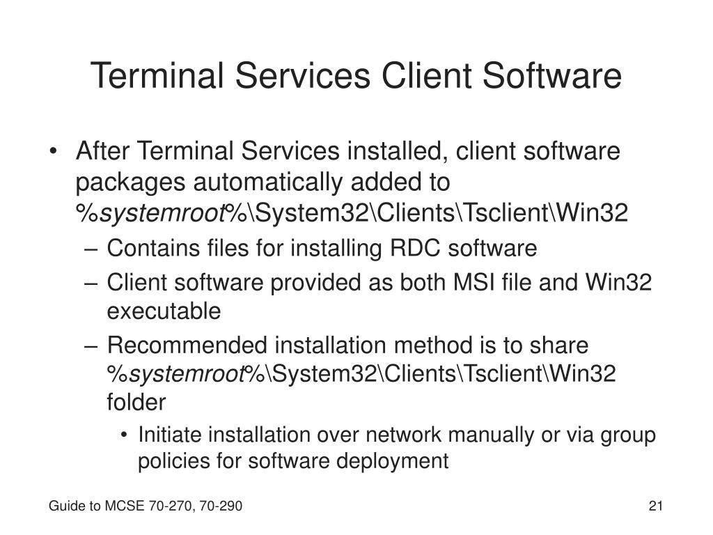 Terminal Services Client Software