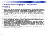 attribution of voting rights proposed ec directive